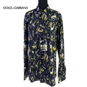 NWT Dolce & Gabbana Mens Gold Slim Fit Shirt